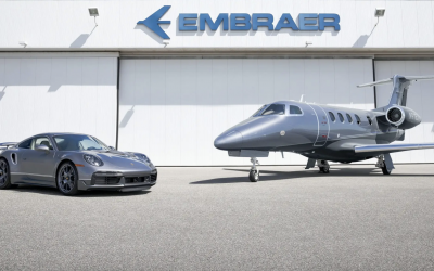 "Porsche x Embraer Are Only Selling Ten 911 Turbo S/Business Jet ""Duet"" Packages"