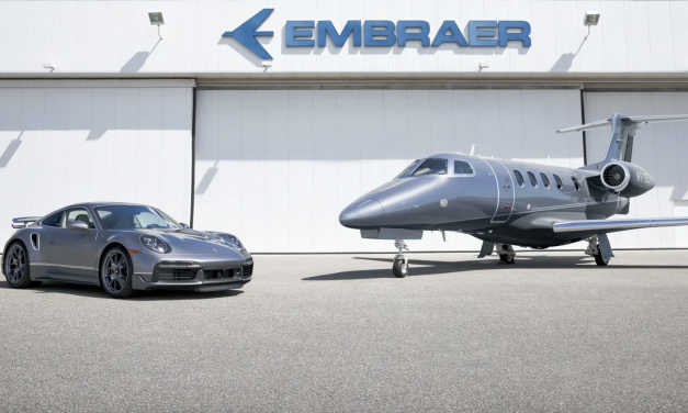 """Porsche x Embraer Are Only Selling Ten 911 Turbo S/Business Jet """"Duet"""" Packages"""