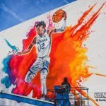 Panini America Praises Grizzlies' Ja Morant With His Own Colorful Mural In Downtown Memphis